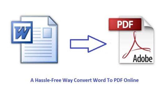 Way Convert Word To PDF Online