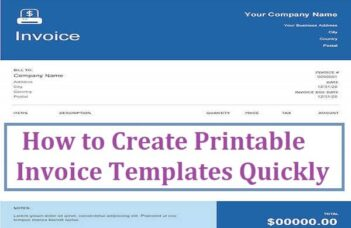 How to Create Printable Invoice Templates Quickly